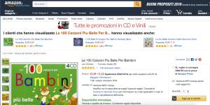 Amazon è un'ottima soluzione per trovare canzoni per bambini