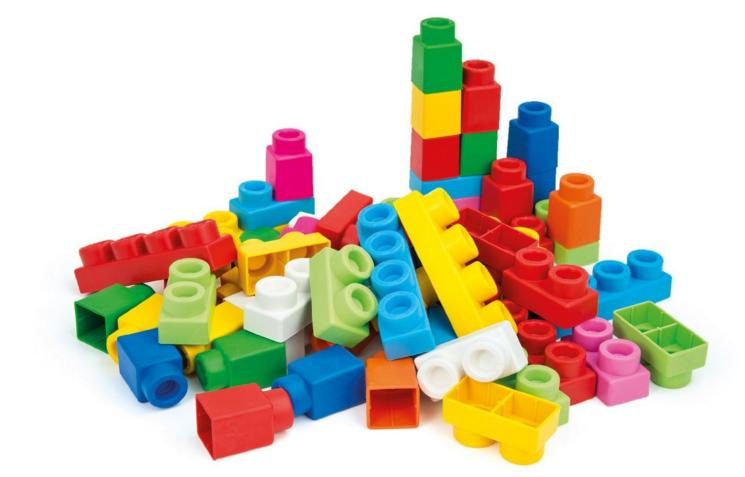 mattoncini lego morbidi per bambini
