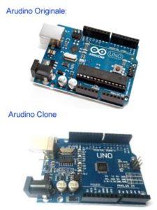 Arduino originale ed un suo clone