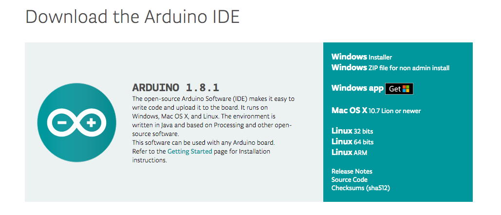 Download Arduino - I sistemi operativi disponibili