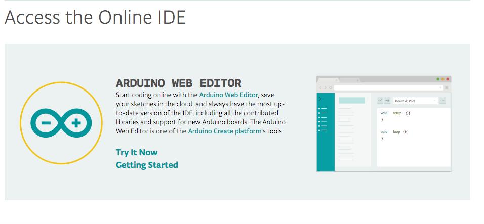 Arduino on line editor