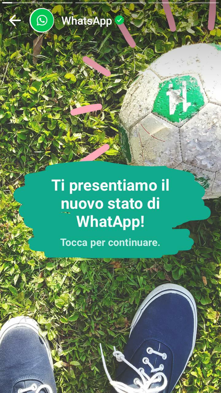 Stati whatsapp. Il primo accesso alla funzione