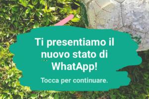 aggiornare lo stato whatsapp. Anteprima della funzione