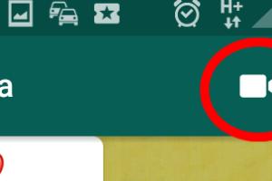 Il bottone per videochiamare con whatsapp