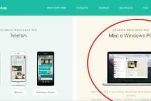scaricare whatsapp web sul computer