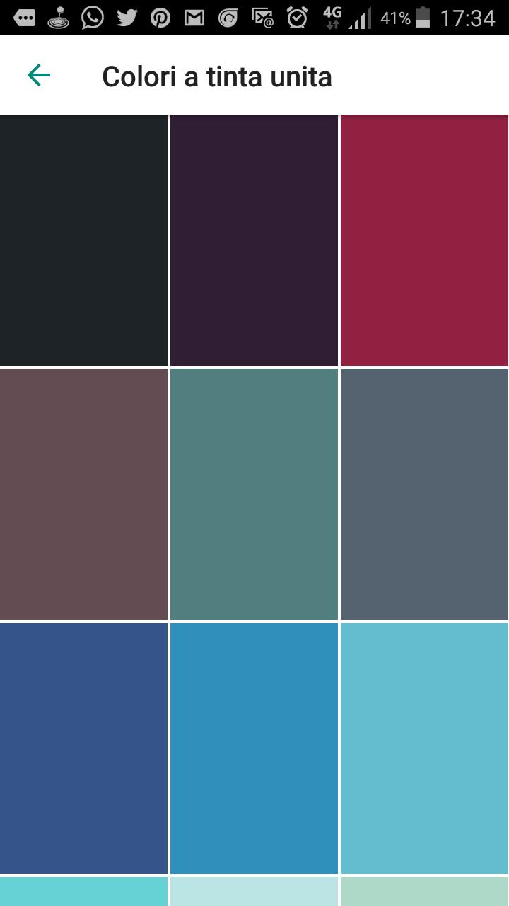 sfondo whatsapp l'opzioni colori a tinta unita