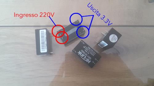 convertitori di corrente alternata 220v - 3.3v