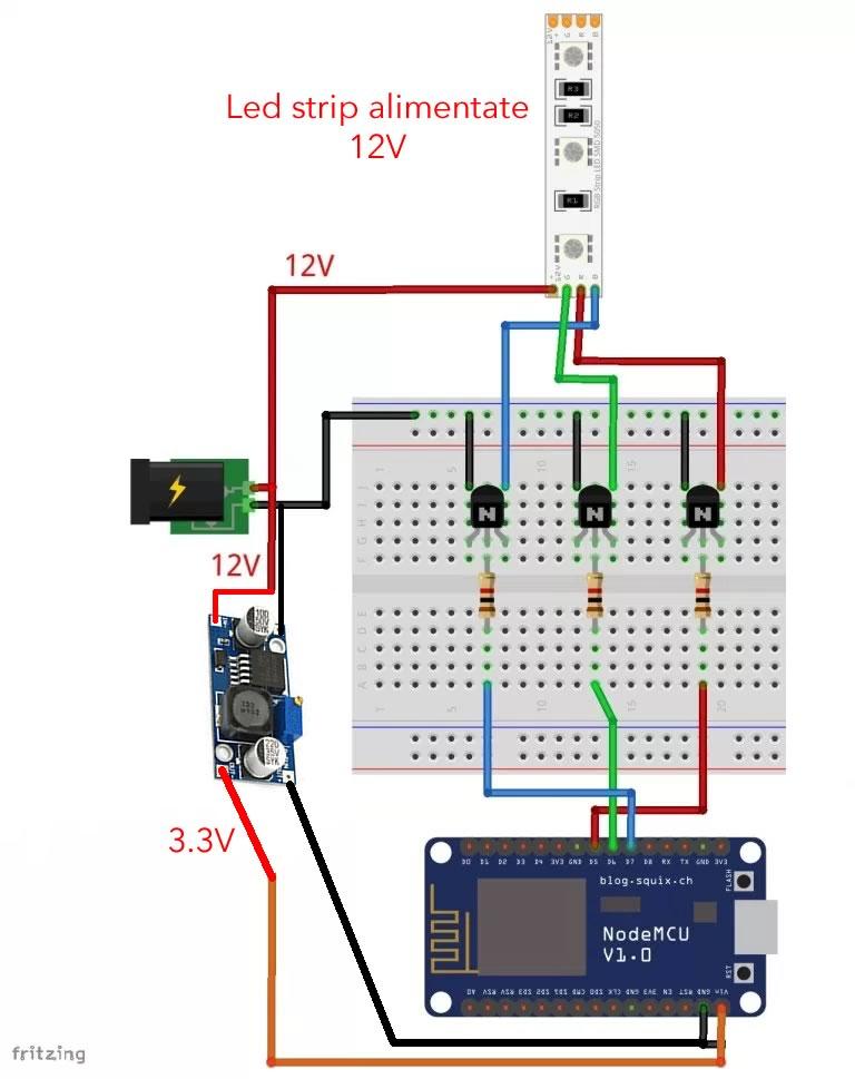 Stepdown - LM2596S, schema di funzionamento di un convertitore DC DC