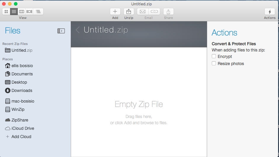 win zip per mac - file manager