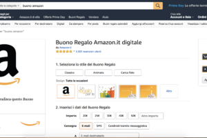 buono regalo amazon - acquisto on line