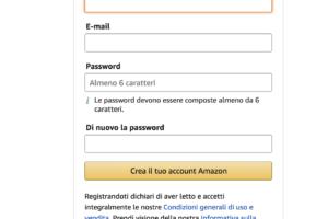 creare account su amazon - come comprare su amazon.it