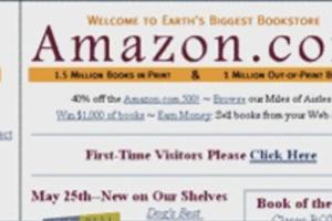 Chi ha fondato amazon? - Una delle prime home page del sito.