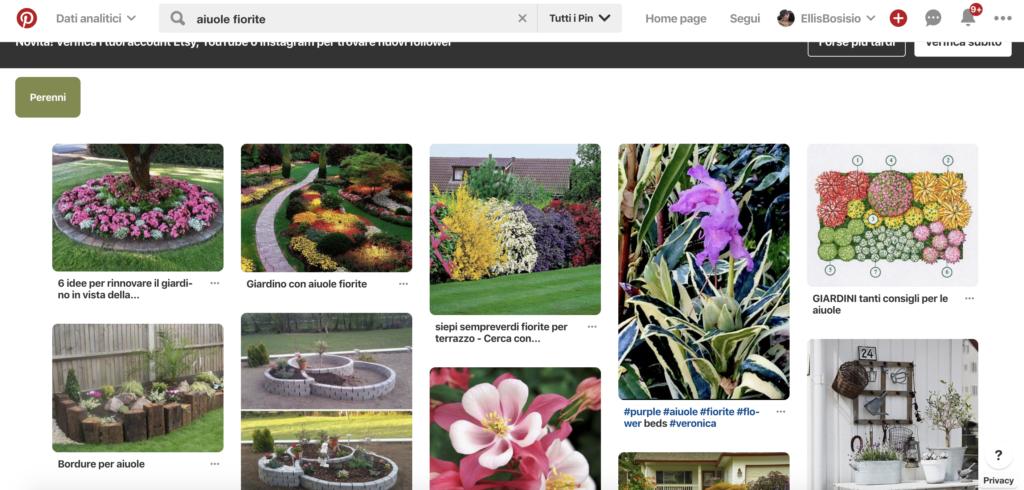 giardino a marzo - ispirazione per aiuole fiorite da pinterest